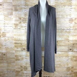 Moda International Brown Waterfall Front Cardigan